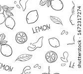 lemon vector seamless pattern...   Shutterstock .eps vector #1672317274