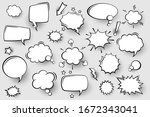 collection of empty comic...   Shutterstock .eps vector #1672343041