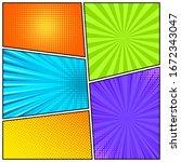 cartoon comic backgrounds set....   Shutterstock .eps vector #1672343047