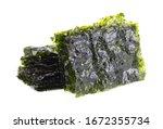 Crispy Nori Seaweed Isolated O...