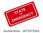 state of emergency signboard.... | Shutterstock .eps vector #1672372261