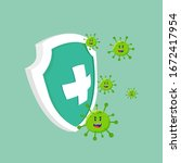 protect from virus. protect... | Shutterstock .eps vector #1672417954