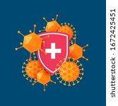immune system icon.... | Shutterstock .eps vector #1672425451