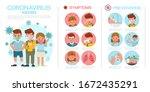 coronavirus infographic present ... | Shutterstock .eps vector #1672435291