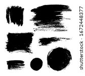 monochrome abstract vector... | Shutterstock .eps vector #1672448377