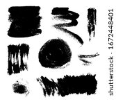 monochrome abstract vector... | Shutterstock .eps vector #1672448401