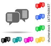 communication bubbles multi...