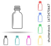bottle with stopper multi color ...