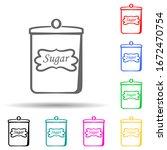 sugar can multi color style...