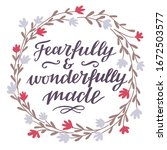 Hand Lettering Fearfully And...