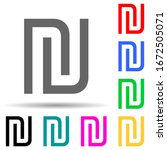 shekel multi color style icon....