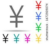 yen multi color style icon....