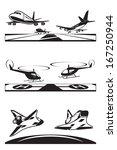 air transportation set   vector ... | Shutterstock .eps vector #167250944