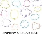 speech bubble set pen marker