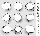 collection of empty comic... | Shutterstock .eps vector #1672550311
