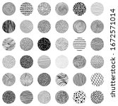 a large set of round textures...   Shutterstock .eps vector #1672571014