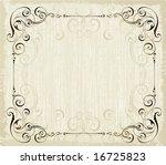 antique frame in vintage style | Shutterstock .eps vector #16725823