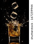 Isolated Shot Of Whiskey With...
