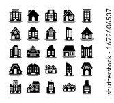 set of icons of towers of... | Shutterstock .eps vector #1672606537