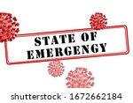 coronavirus covid 19 state of...   Shutterstock . vector #1672662184