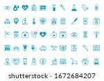 bundle of medical set icons... | Shutterstock .eps vector #1672684207