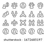 person and people thin line... | Shutterstock .eps vector #1672685197