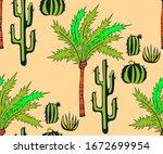 vector background hand drawn...   Shutterstock .eps vector #1672699954