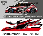 car wrap graphic livery design... | Shutterstock .eps vector #1672703161