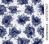 seamless indigo mottled texture.... | Shutterstock . vector #1672727617