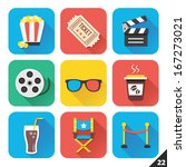 vector icons for web and mobile ... | Shutterstock .eps vector #167273021