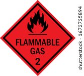 Flammable Gas Caution Sign....