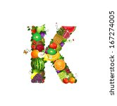 letter of juicy fruit k | Shutterstock .eps vector #167274005