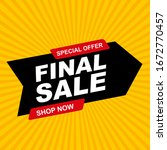 abstract final sale poster.... | Shutterstock .eps vector #1672770457