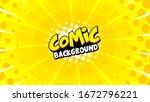 bright pop art comic cloud...   Shutterstock .eps vector #1672796221