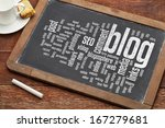 cloud of words or tags related... | Shutterstock . vector #167279681