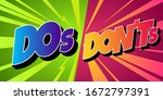 do's and don'ts illustration in ...   Shutterstock .eps vector #1672797391