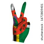 victory finger gesture with...   Shutterstock .eps vector #1672805401