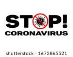dangerous stop coronavirus...   Shutterstock .eps vector #1672865521
