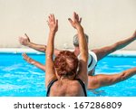 person aged group doing water... | Shutterstock . vector #167286809