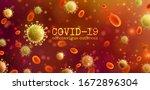 vector of coronavirus 2019 ncov ... | Shutterstock .eps vector #1672896304