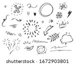 hand drawn set of abstract... | Shutterstock .eps vector #1672903801