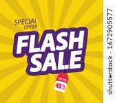flash sale banner. flash sale... | Shutterstock .eps vector #1672905577