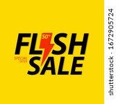 flash sale banner. flash sale...   Shutterstock .eps vector #1672905724
