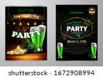 st. patrick s day poster.... | Shutterstock .eps vector #1672908994