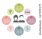 people with speech balloon... | Shutterstock .eps vector #167295179