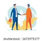 businessmen in lounge suits ... | Shutterstock .eps vector #1672975177