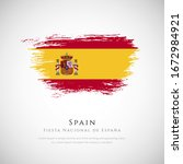 happy national day of spain....   Shutterstock .eps vector #1672984921