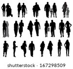 set of silhouette people.... | Shutterstock .eps vector #167298509