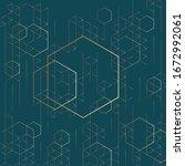 hexagon shape vector... | Shutterstock .eps vector #1672992061