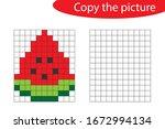 copy the picture  pixel art ...   Shutterstock .eps vector #1672994134